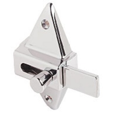 Toilet partition slide latch