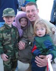 Sgt. Shunn and kids