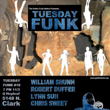 Tuesday Funk Reading, November 3, 2009