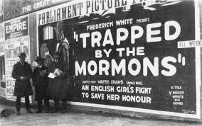 'Trapped by the Mormons' poster