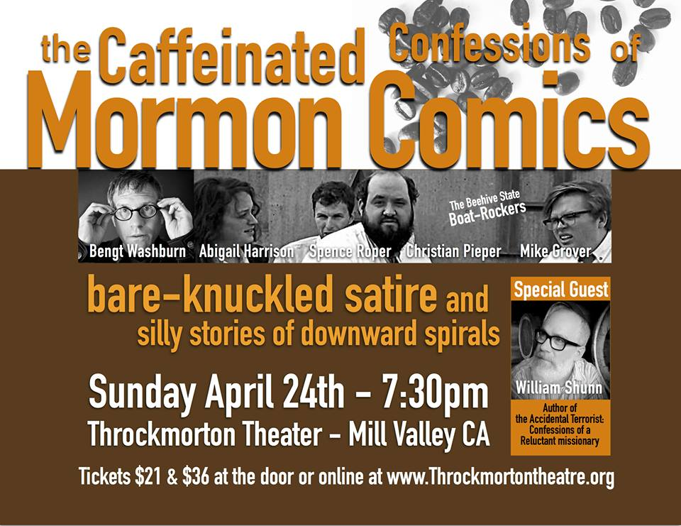 Caffeinated Confessions of Mormon Comics, Throckmorton Theater, 24 April 2016