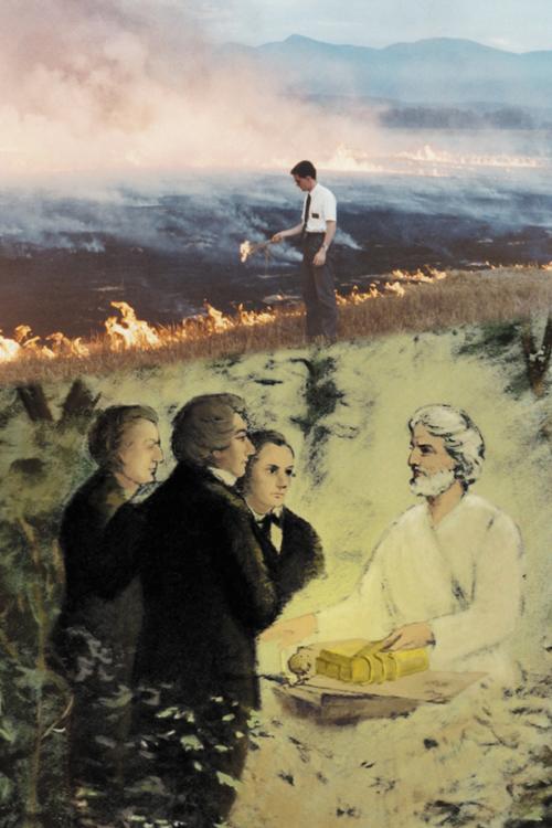 Elder Shunn sets Mormon history on fire
