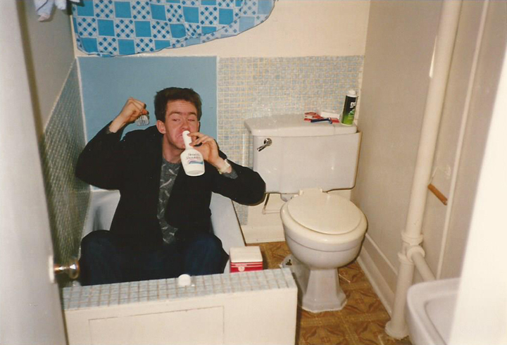 Young Elder Shunn getting drunk on shampoo, 1986 - click to view - mousewheel to zoom