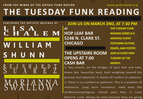Tuesday Funk Reading, March 2, 2010