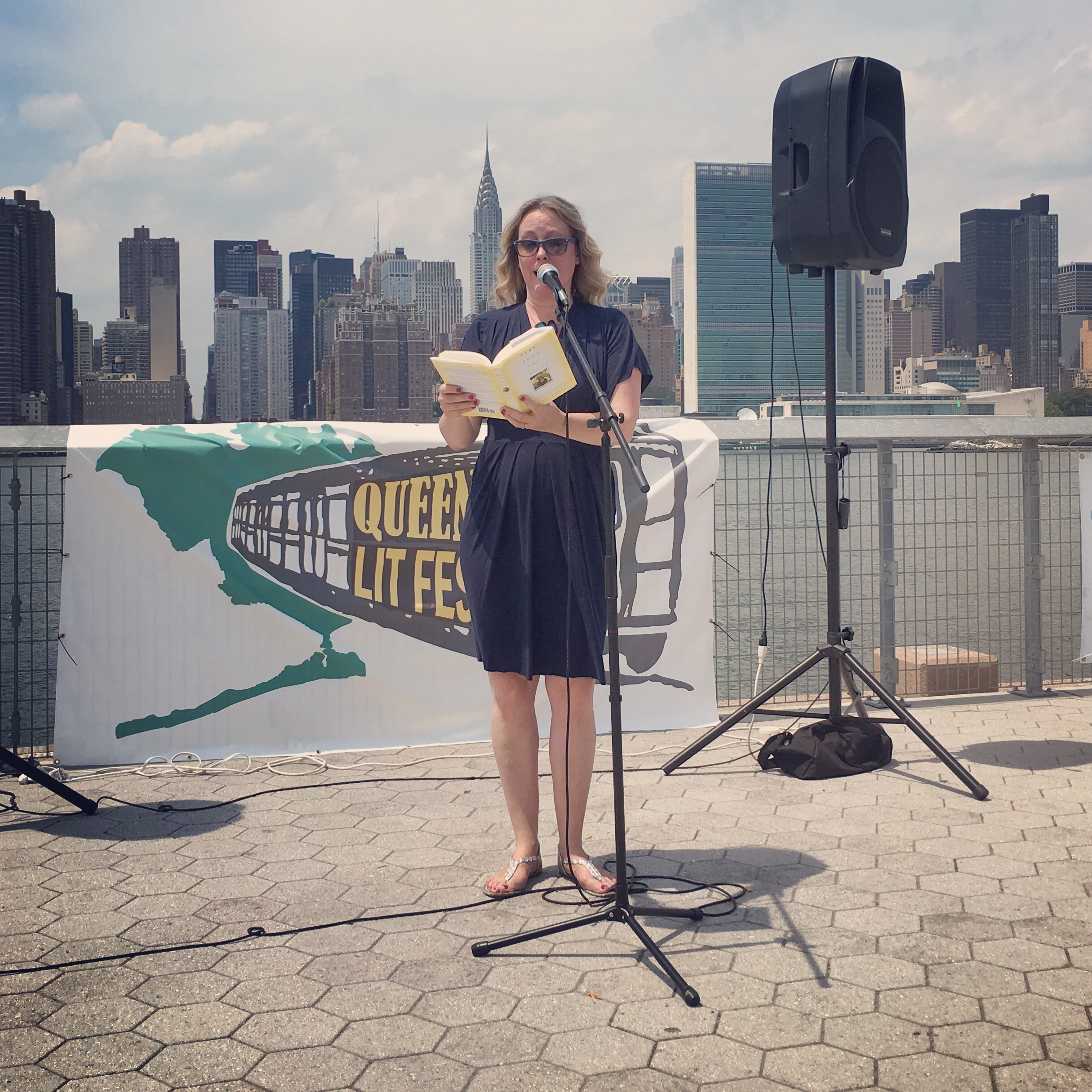 Kambri Crews reads for Line Break at the Queens Lit Fest, LIC Landing, Long Island City, NY, July 16, 2016
