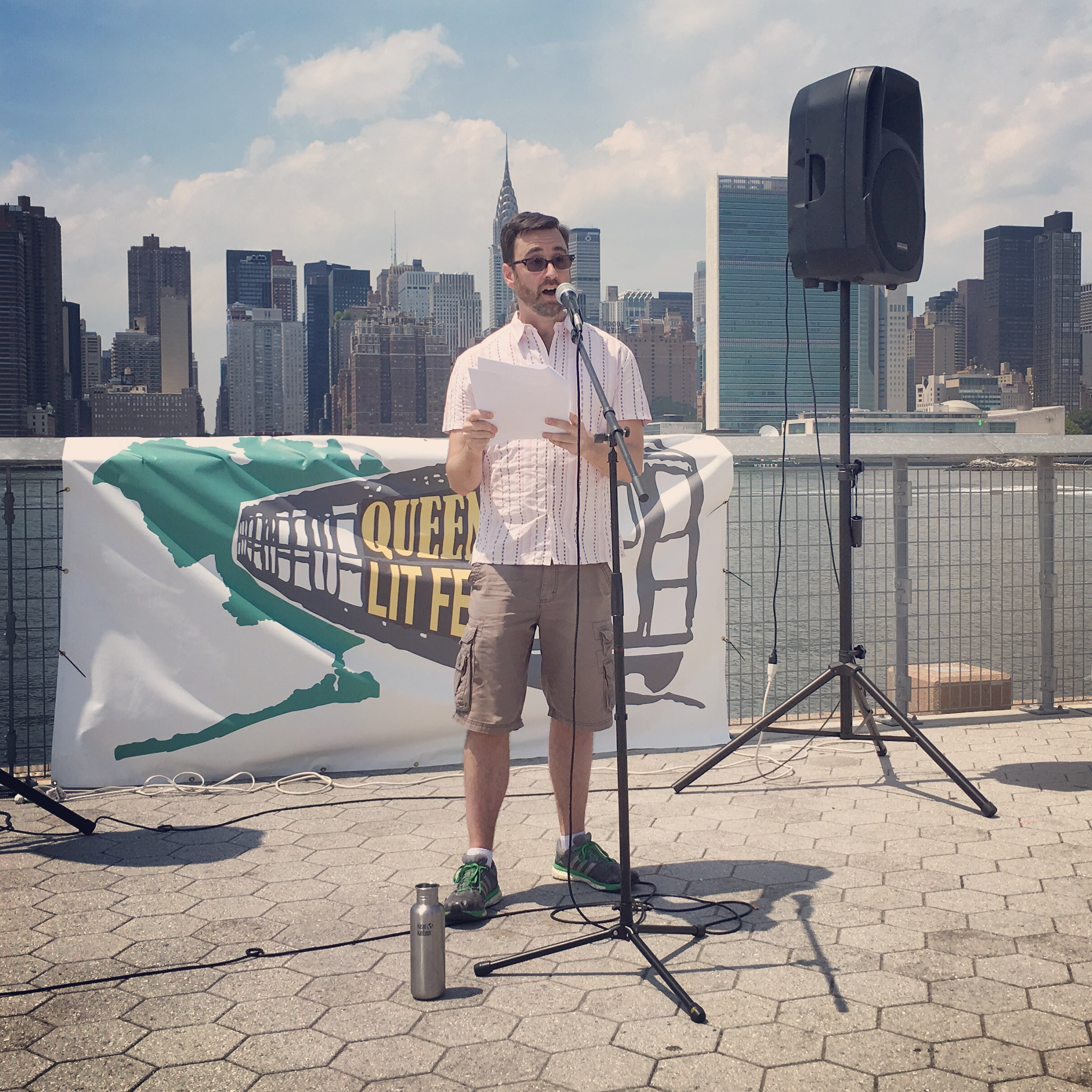 Andrew Willett reads for Line Break at the Queens Lit Fest, LIC Landing, Long Island City, NY, July 16, 2016