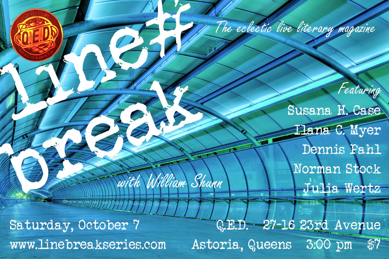 Line Break #12: Saturday, October 7, 2017, 3:00 p.m.