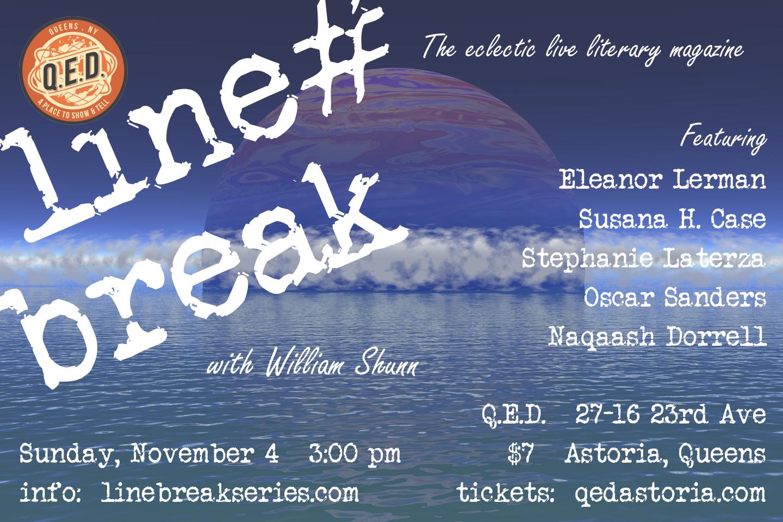 Line Break #24: Sunday, November 4, 2018, 3:00 p.m.