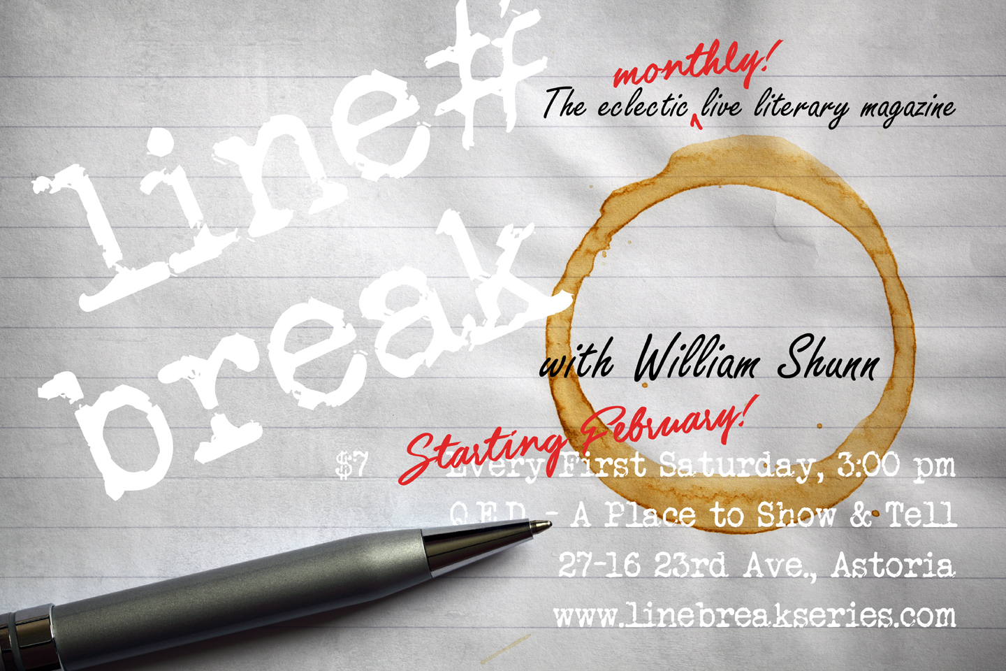 Line Break Goes Monthly Starting in February 2017!
