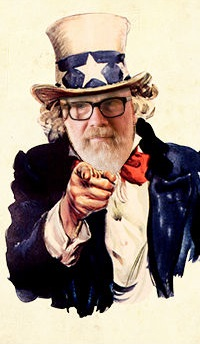 Line Break Wants YOU (William Shunn as Uncle Sam)