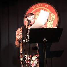 Audrey Dimola reads at Line Break #6 - click to view - mousewheel to zoom