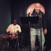 Oscar Sanders and Naqaash Dorrell perform at Line Break #24 - click to view - mousewheel to zoom