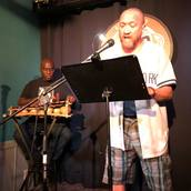 Oscar Sanders and Naqaash Dorrell perform at Line Break #20 - click to view - mousewheel to zoom