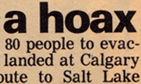 Article: 'Bomb threat a hoax'
